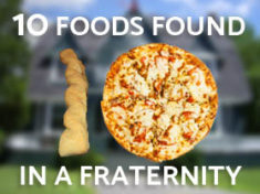 Ten Foods Found in a Fraternity House